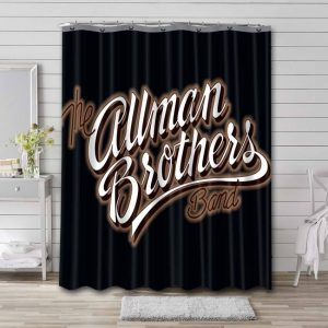 The Allman Brothers Band Rock Waterproof Curtain Bathroom Shower