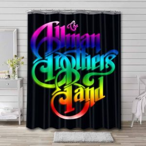 The Allman Brothers Band Rock Shower Curtain Bathroom Decoration