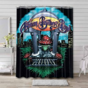 The Allman Brothers Band Rock Where It All Begins Shower Curtain Waterproof Polyester