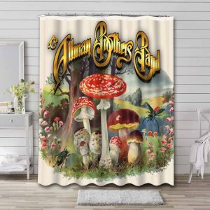The Allman Brothers Band Rock Where It All Begins Waterproof Shower Curtain Bathroom