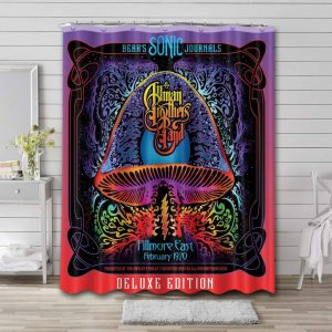 The Allman Brothers Band Rock Where It All Begins Waterproof Bathroom Shower Curtain