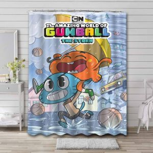 The Amazing World of Gumball The Storm Shower Curtain Waterproof Polyester