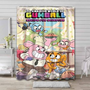 The Amazing World of Gumball Recipe For Disaster Waterproof Bathroom Shower Curtain