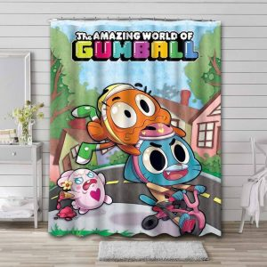 The Amazing World of Gumball Shower Curtain Bathroom Decoration