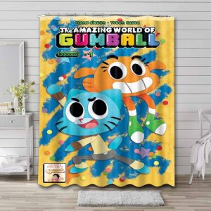 The Amazing World of Gumball Shower Curtain Waterproof Polyester