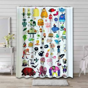 The Amazing World of Gumball Characters Bathroom Shower Curtain Waterproof