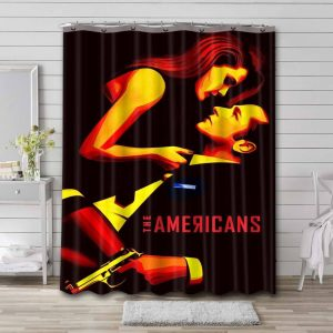 The Americans TV Series Shower Curtain Waterproof Polyester