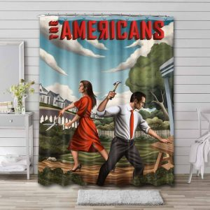 The Americans Shower Curtain Waterproof Polyester