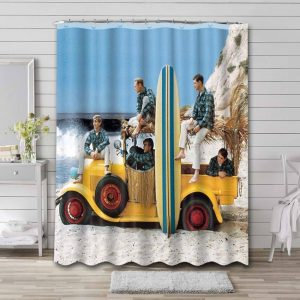 The Beach Boys Shower Curtain Waterproof Polyester