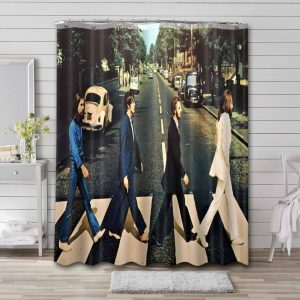The Beatles Abbey Road Shower Curtain Waterproof Polyester