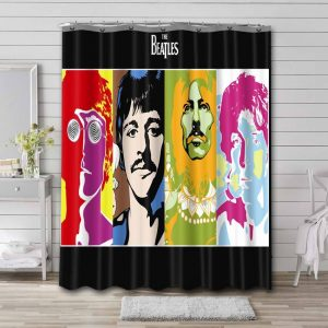 The Beatles Shower Curtain Bathroom Decoration Waterproof Polyester Fabric.