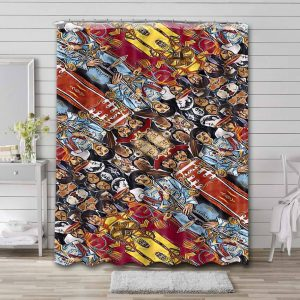 The Beatles Sgt. Pepper's Lonely Hearts Club Band Waterproof Shower Curtain Bathroom