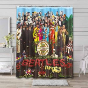 The Beatles Sgt. Pepper's Lonely Hearts Club Band Waterproof Bathroom Shower Curtain