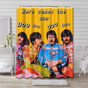 The Beatles Here Comes the Sun Shower Curtain Bathroom Waterproof