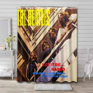 The Beatles Let It Be Shower Curtain Waterproof Polyester