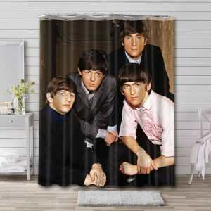 The Beatles Shower Curtain Waterproof Polyester