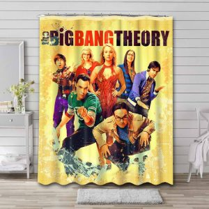 The Big Bang Theory TV Shows Shower Curtain Waterproof Polyester