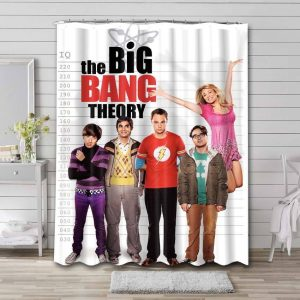 The Big Bang Theory Shower Curtain Waterproof Polyester