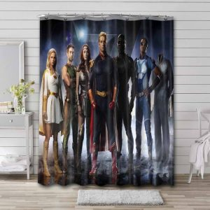 The Boys Characters Shower Curtain Waterproof Polyester