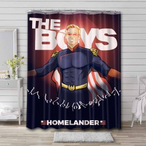 The Boys Shower Curtain Bathroom Decoration Waterproof Polyester Fabric.
