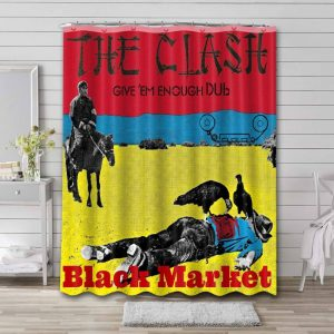 The Clash Give 'Em Enough Rope Shower Curtain Bathroom Decoration