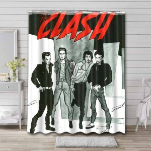The Clash Shower Curtain Waterproof Polyester