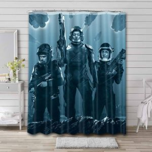 The Expanse Characters Shower Curtain Bathroom Decoration