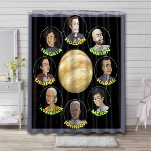 The Expanse Characters Shower Curtain Waterproof Polyester Fabric