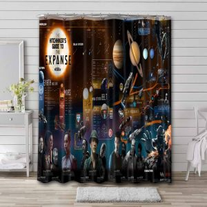 The Expanse Characters Bathroom Shower Curtain Waterproof