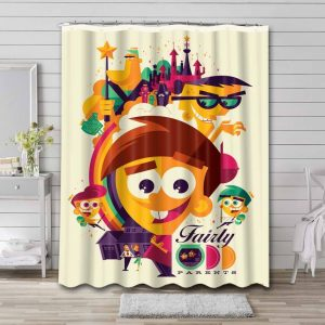 The Fairly OddParents Show Waterproof Shower Curtain Bathroom
