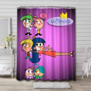 The Fairly OddParents Shower Curtain Bathroom Decoration