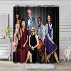 The Good Place TV Series Shower Curtain Waterproof Polyester Fabric