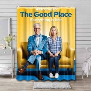 The Good Place Waterproof Bathroom Shower Curtain