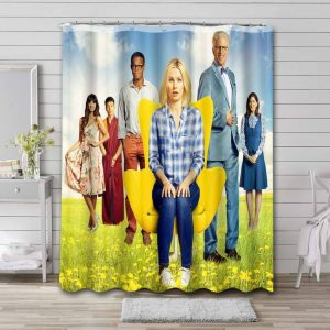 The Good Place Bathroom Curtain Shower Waterproof Fabric