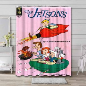 The Jetsons Cartoon Shower Curtain Waterproof Polyester