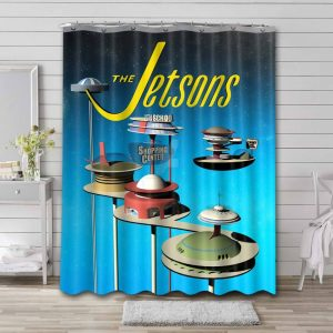 The Jetsons Shopping Center Waterproof Curtain Bathroom Shower