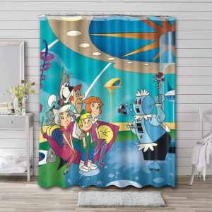 The Jetsons Characters Shower Curtain Bathroom Decoration