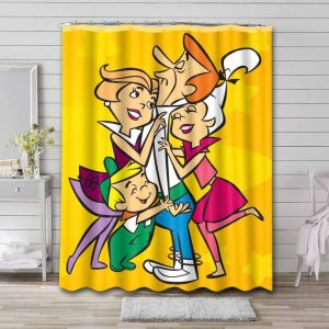 The Jetsons Characters Shower Curtain Waterproof Polyester