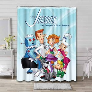 The Jetsons Shower Curtain Bathroom Decoration