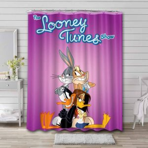 Looney Tunes Shower Curtain Waterproof Polyester
