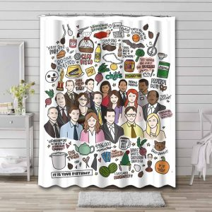 The Office Shower Curtain Waterproof Polyester Fabric