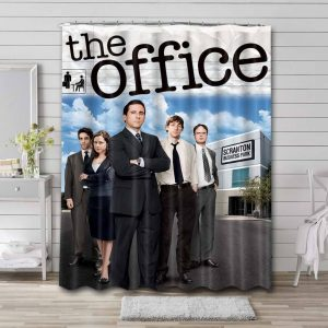 The Office Characters Shower Curtain Waterproof Polyester Fabric