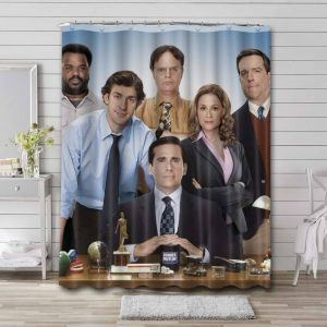 The Office Characters Waterproof Shower Curtain Bathroom Decor