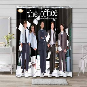 The Office Characters Waterproof Bathroom Shower Curtain