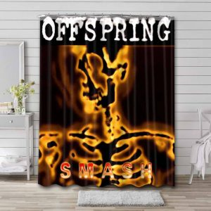 The Offspring Smash Shower Curtain Waterproof Polyester