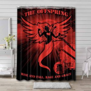 The Offspring Rise and Fall Rage and Grace Shower Curtain Waterproof Polyester