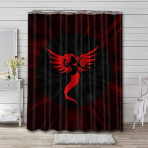 The Offspring Rise and Fall Rage and Grace Waterproof Shower Curtain Bathroom