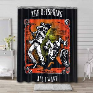 The Offspring All I Want Bathroom Curtain Shower Waterproof