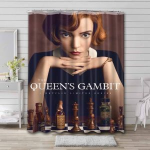 The Queen's Gambit Shower Curtain Waterproof Polyester Fabric