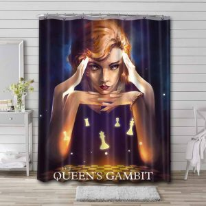 The Queen's Gambit Series Shower Curtain Waterproof Polyester Fabric